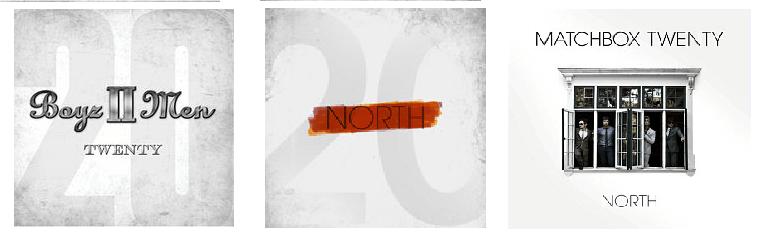 Boyz II Men Twenty artwork Matchbox Twenty North artwork
